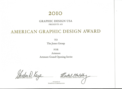 Graphic Design Certificate of Excellence Awarded to BHM