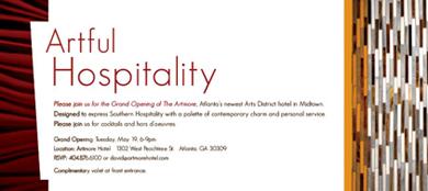 Artmore Hotel Grand Opening Invitation