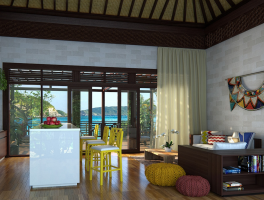 Sarani Resort Living Room Rendering