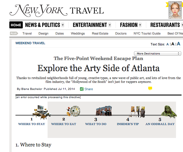 NY Mag | Where to Stay Explore the Arty Side of Atlanta