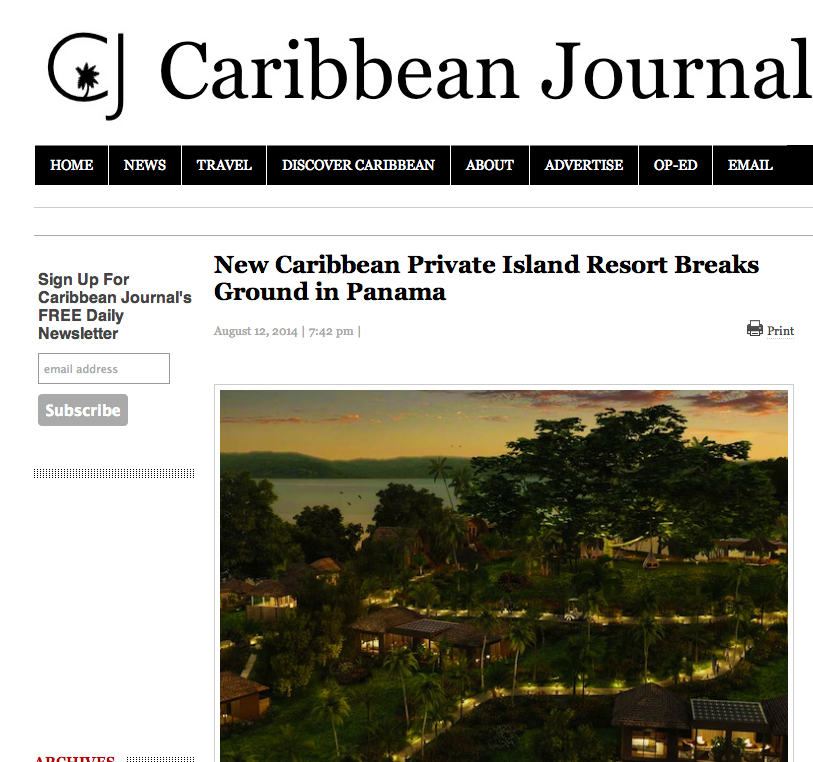 Caribbean Journal | New Caribbean Private Island Resort Breaks Ground in Panama